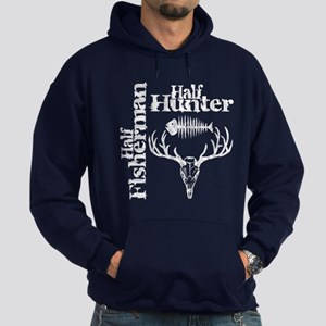 Half Fisherman. Half Hunter. Hoodie (dark)