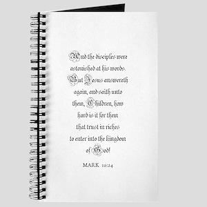 MARK 10:24 Journal