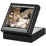 Keepsake Box - Leopard Wuff Kiss