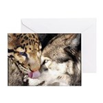 Greeting Card - Leopard Wuff Kiss