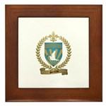SERREAU Family Crest Framed Tile