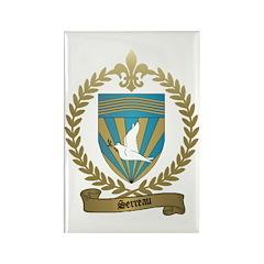 SERREAU Family Crest Rectangle Magnet (10 pack)