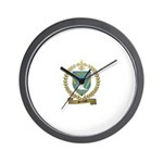 SERREAU Family Crest Wall Clock