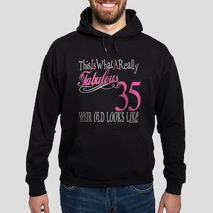 35th Birthday Gifts Hoodie (dark)