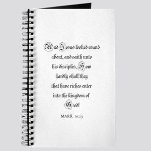 MARK 10:23 Journal