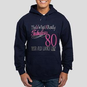 80th Birthday Gift Hoodie (dark)