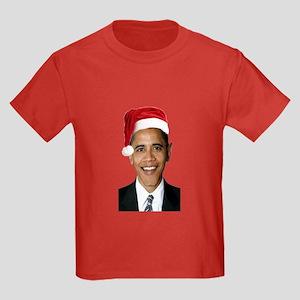 Santa Obama Kids Dark T-Shirt