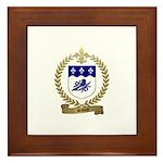 SAVOIE Family Crest Framed Tile