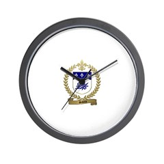 SAVOIE Family Crest Wall Clock