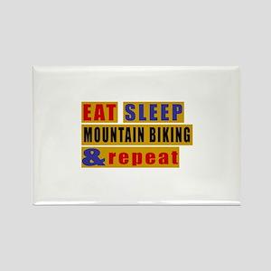 Eat Sleep Mountain Biking And Rep Rectangle Magnet