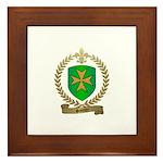 SANTIER Family Crest Framed Tile