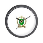 SANTIER Family Crest Wall Clock