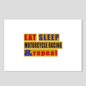 Eat Sleep Motorcycle Raci Postcards (Package of 8)
