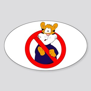 Anti-Tigers Sticker (Oval)