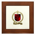 SAINT-QUENTIN Family Crest Framed Tile