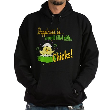 Happiness is a Chick Hoodie (dark)