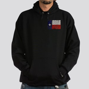 Texas Retro Rusted flag Hoodie (dark)