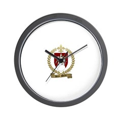 SAINT-PIERRE Family Crest Wall Clock