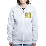 21! 21st Birthday Gifts! Women's Zip Hoodie