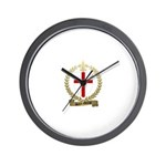 SAINT-GEORGE Family Crest Wall Clock