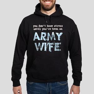 Stressed Army Wife Hoodie (dark)
