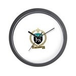 ROUSSELIERE Family Crest Wall Clock