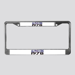 ALL MOD CONS 1978 License Plate Frame