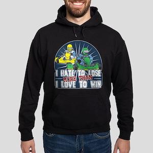 Hate to Lose Go Kart Hoodie (dark)