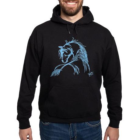 Horse Head Sketch Hoodie (dark)