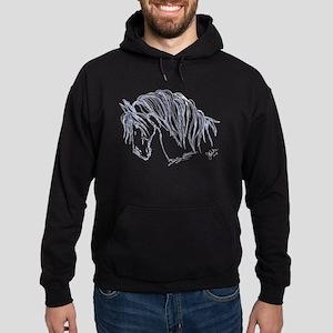 Horse Head Art Hoodie (dark)