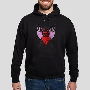 Emo Grunge Heart Hoodie (dark)