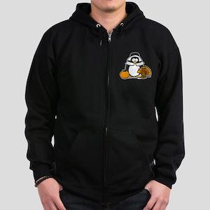 Pilgrim Girl Penguin Zip Hoodie (dark)