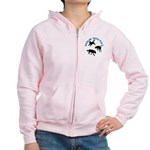 Rescue Dogs Rule Shadow Dogs Women's Zip Hoodie