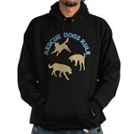 Rescue Dogs Rule Shadow Dogs Hoodie (dark)