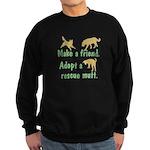 Adopt a Mutt Sweatshirt (dark)