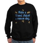 Adopt A Rescue Sweatshirt (dark)