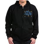 Adopt A Rescue Zip Hoodie (dark)
