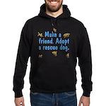 Adopt A Rescue Hoodie (dark)