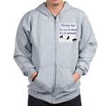 Best Therapy Breed Zip Hoodie