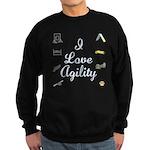 I Love Agility 2 Sweatshirt (dark)