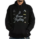I Love Agility 2 Hoodie (dark)