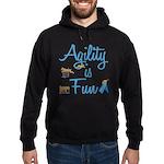 Agility is Fun Hoodie (dark)