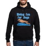 Diving Dog Hoodie (dark)