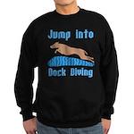 Jump Into Diving Dogs Sweatshirt (dark)