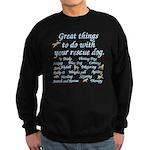 Great Dog Activities Sweatshirt (dark)