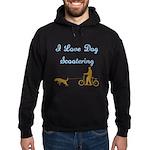 Dog Scootering Hoodie (dark)