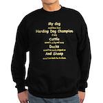 Herding Champion CDS Sweatshirt (dark)