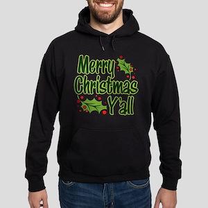 Merry Christmas Y'all Hoodie (dark)