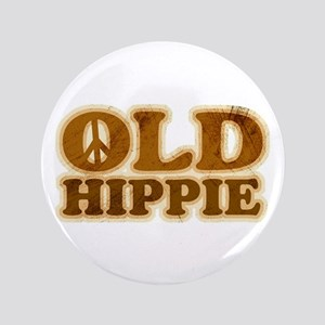 """Old Hippie Peace 3.5"""" Button"""