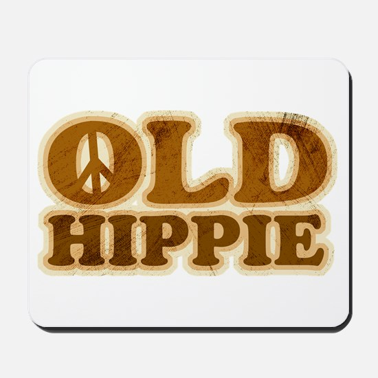 Old Hippie Peace Mousepad
